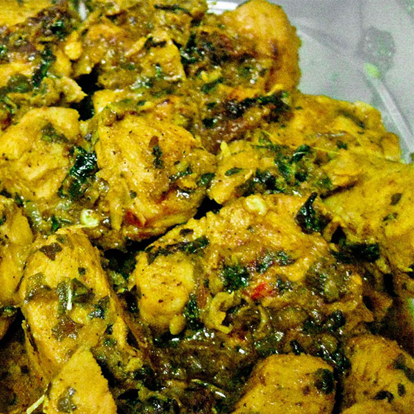 Methi Pork Fry In Oilve Oil - Boneless