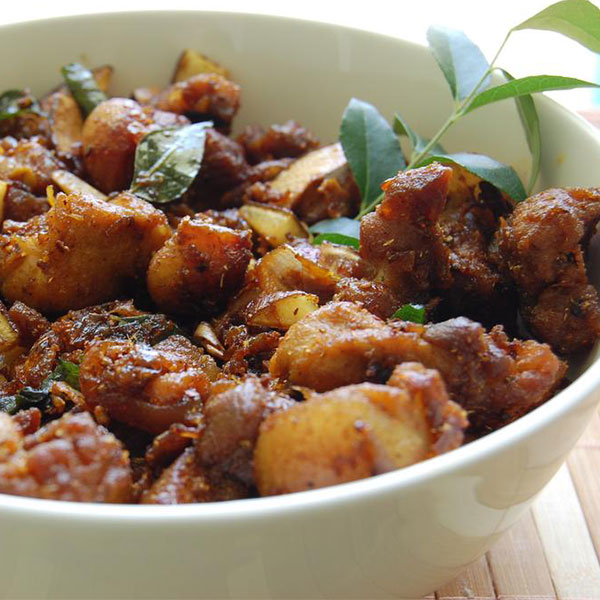 Andhra Pork Fry - Boneless